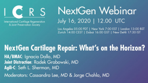 NextGen Cartilage Repair: What's on the Horizon? | Complimentary Webinar